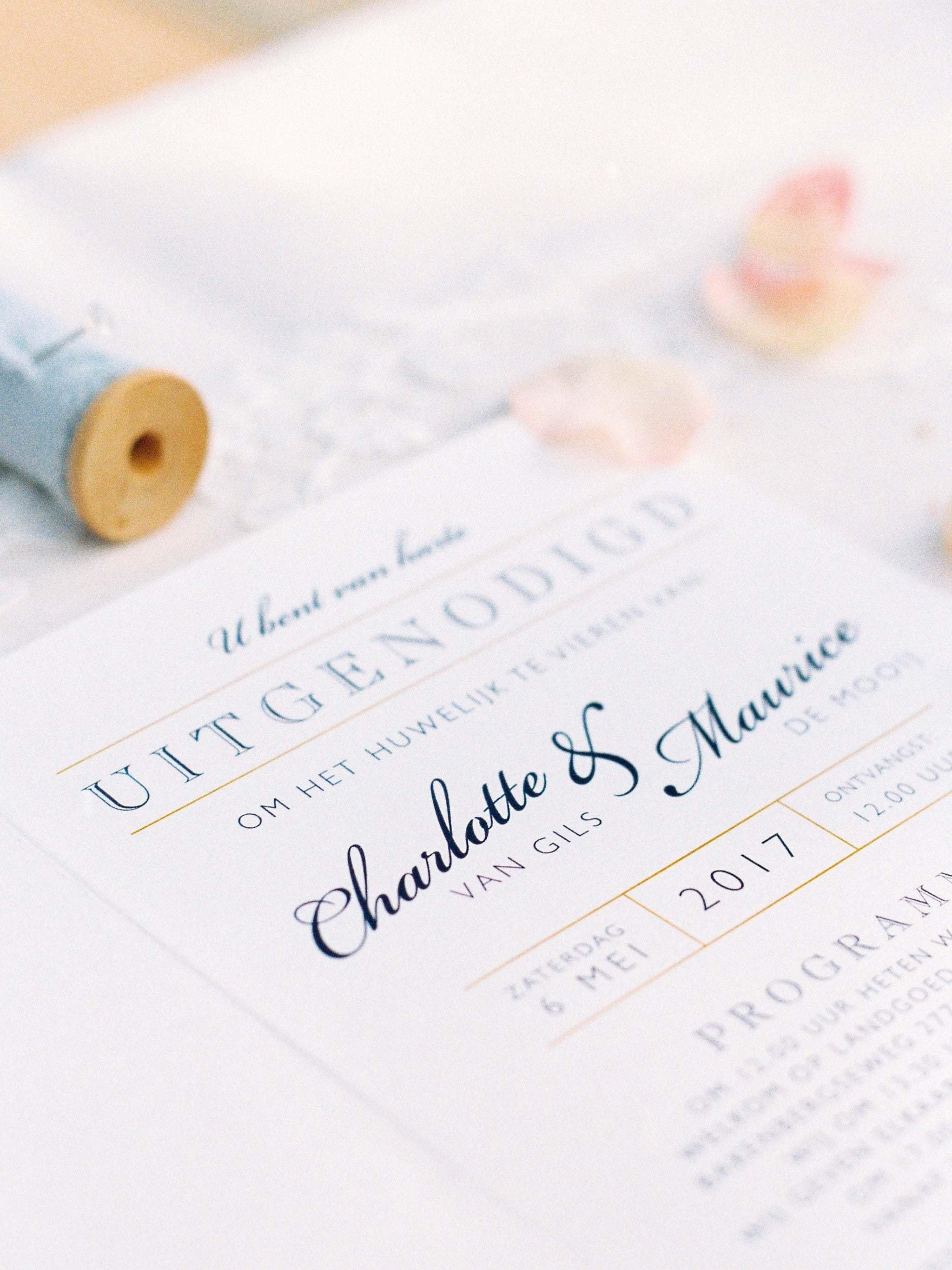 Bruiloft Uitnodiging Theperfectwedding Nl