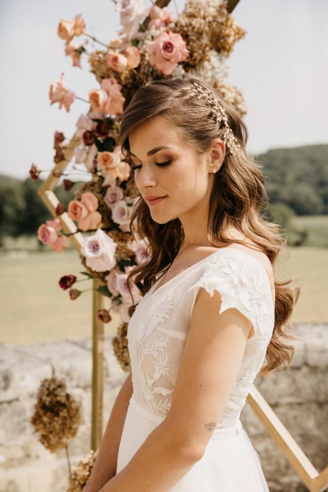 Braut diadem offene haare