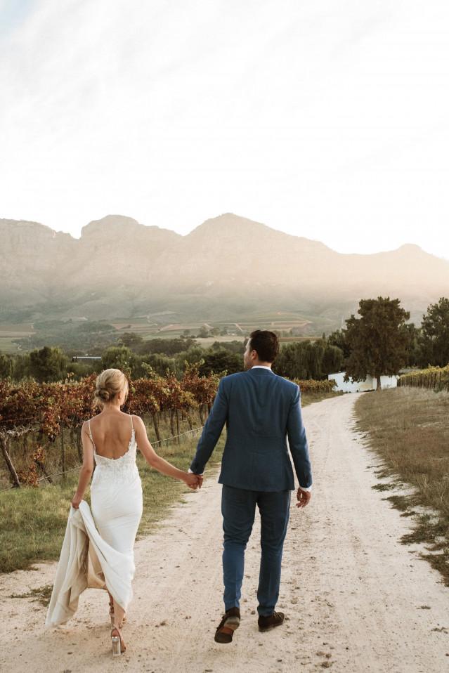Brautpaar in Südafrika