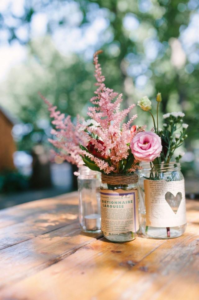 Decoratie met de jampot of mason jar op je bruiloft for Bloemen decoratie