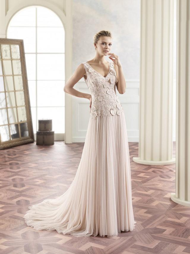 Populair 9x trouwjurken in een blush kleur | ThePerfectWedding.nl #MQ23