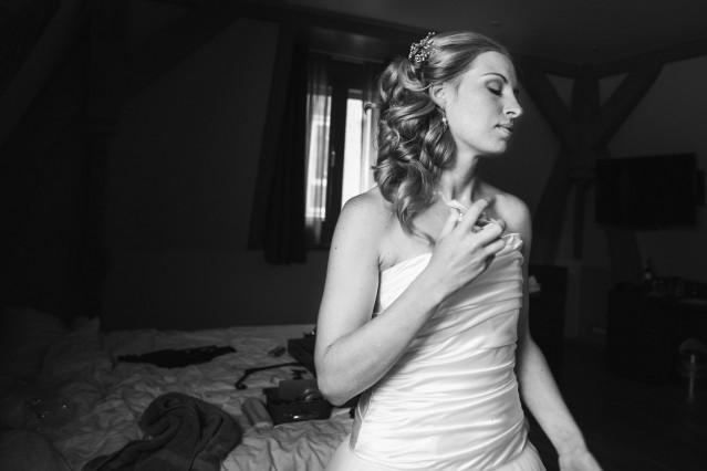service vind bruid gezicht zitten