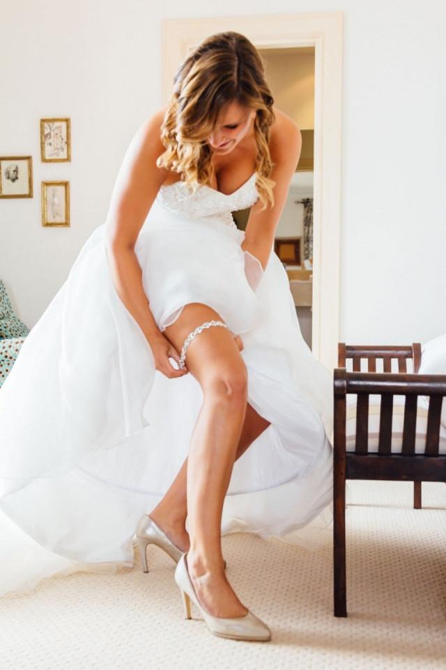 kousenband onder de trouwjurk | theperfectwedding.nl