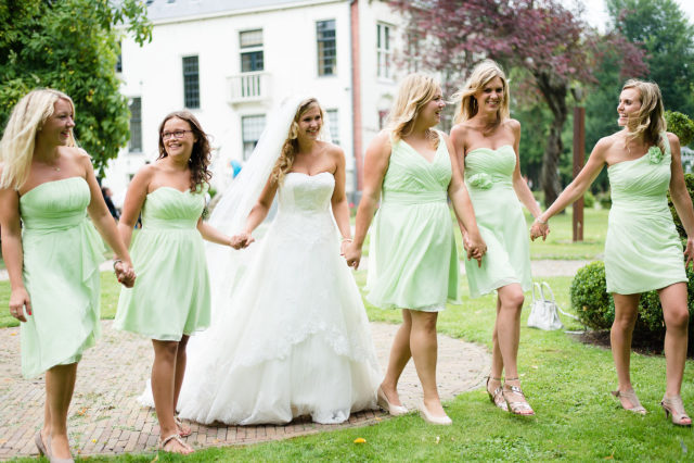 Mintgroen jurkje bruiloft