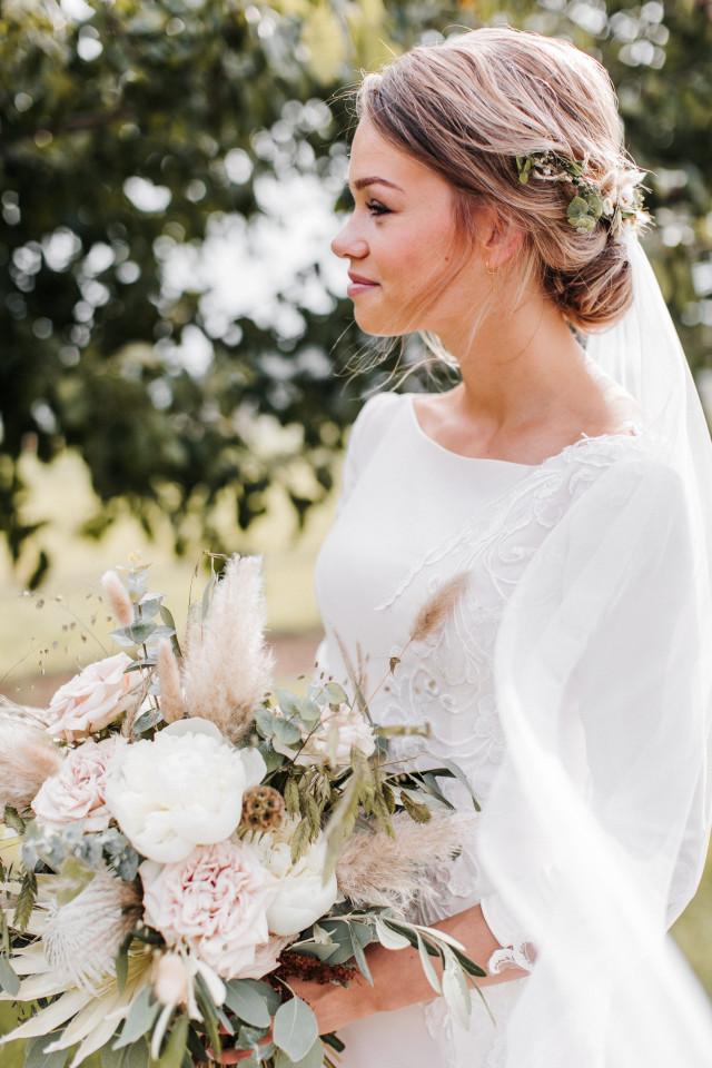 Offen mit schleier hochzeitsfrisuren Brautfrisuren lange