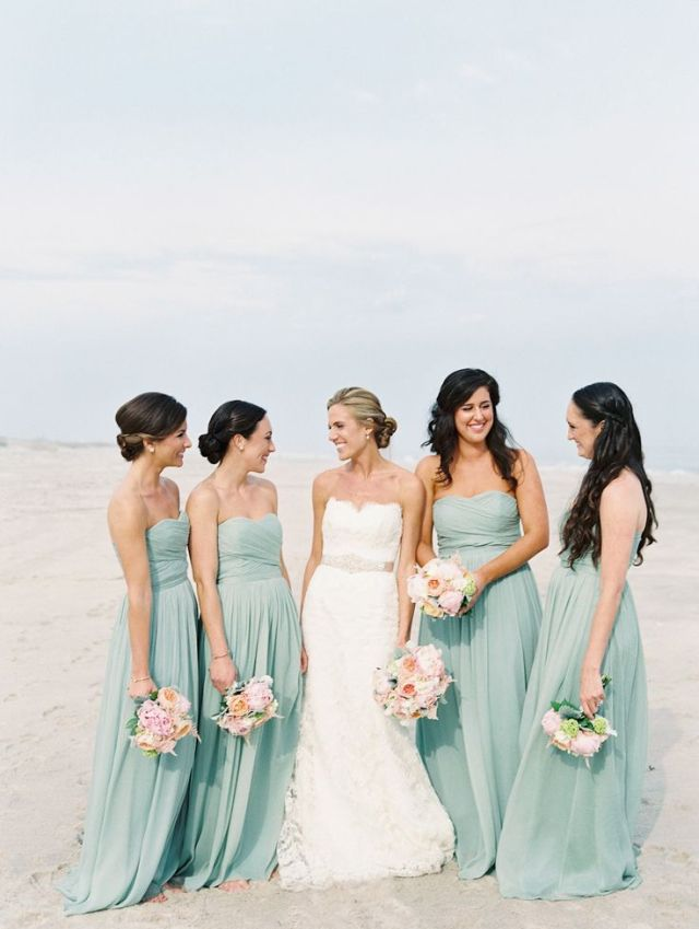 jurk pastelkleur bruiloft