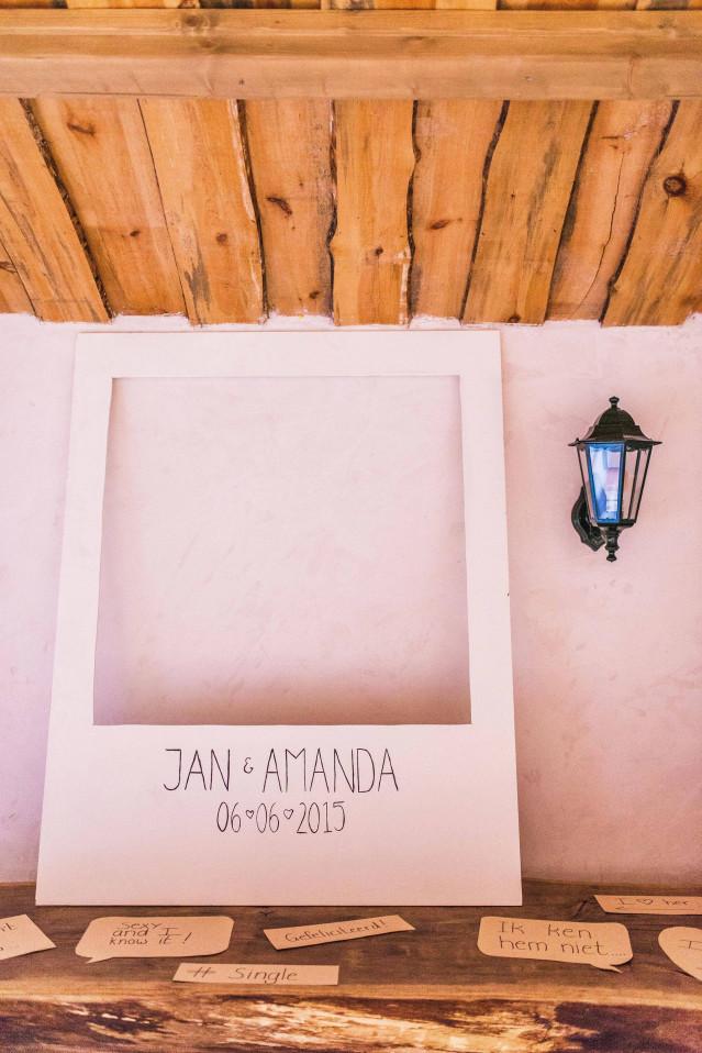 Een Photobooth Achtergrond Voor De Bruiloft
