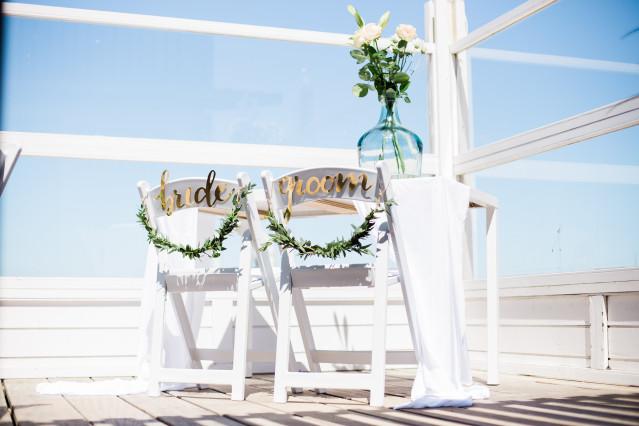 Hochzeitsdeko am Strand