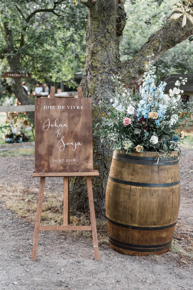 Deko für die Hochzeit im Garten