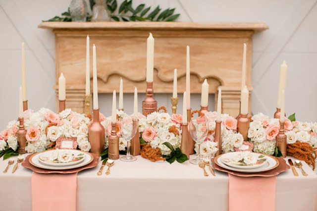 Themakleur Rose Goud Op Je Bruiloft