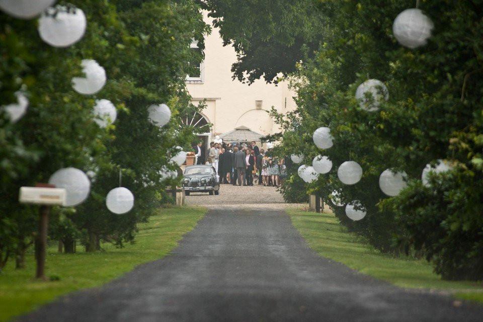 Decoratie van de entree bruiloft theperfectwedding
