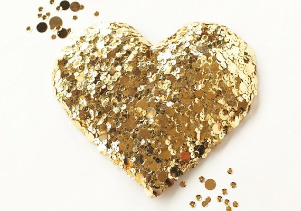 Diy Gouden Decoratie Hart Theperfectwedding Nl