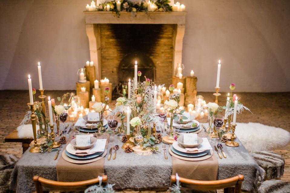 Centerpieces op de dinertafel op je bruiloft for Sfeer en chique