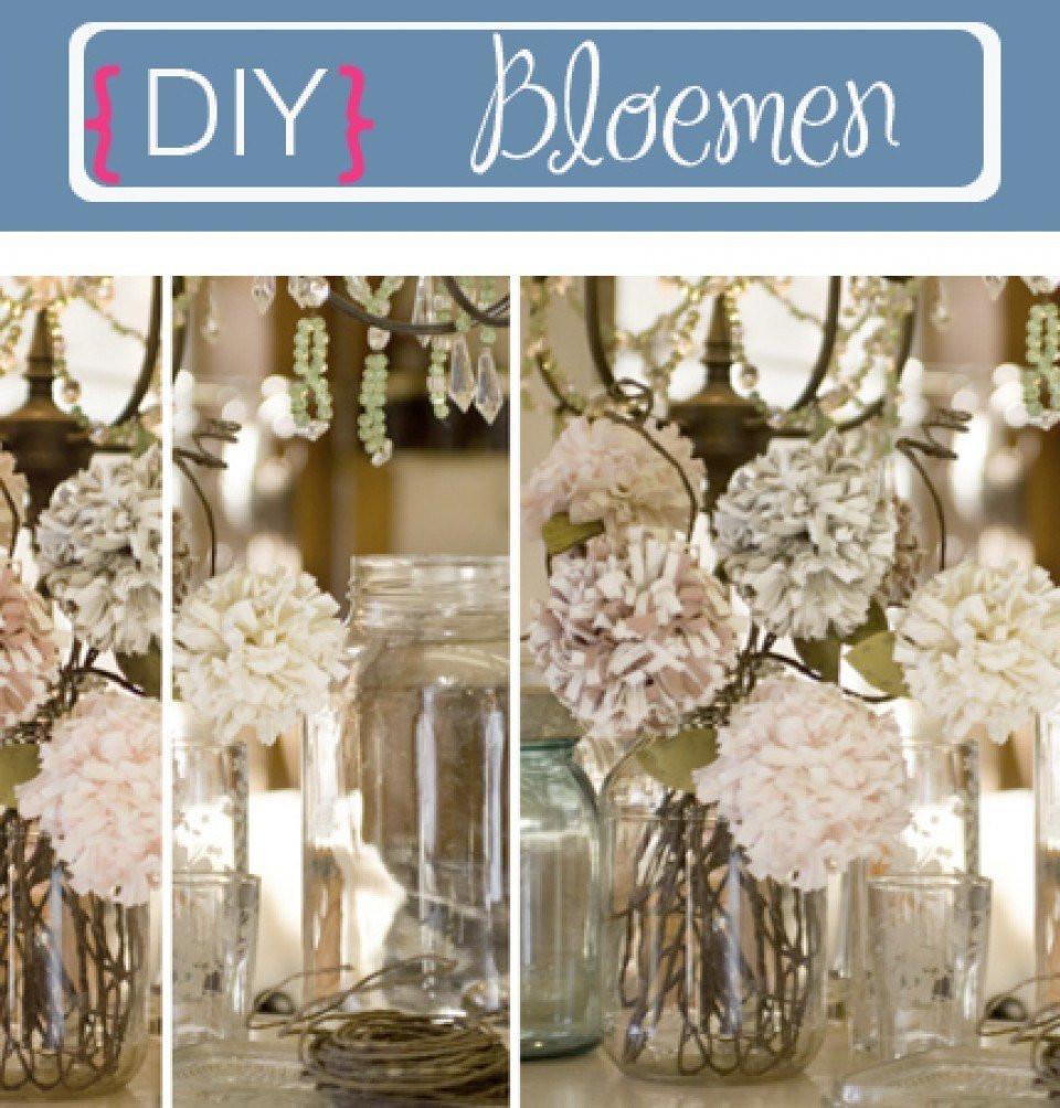 Diy bruiloftsdecoratie bloemen for Decoratie bruiloft zelf maken